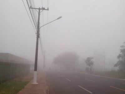 Ponta Porã está com visibilidade reduzida pelo nevoeiro