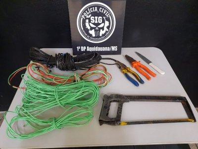 Dupla suspeita de furtar fios de cobre em comércios de Aquidauana é presa