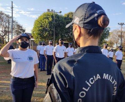 Alunos do Curso de Formação da PM de MS treinam em Aquidauana